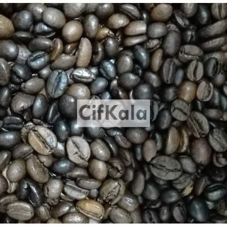 دانه قهوه میکس روبوستا عربیکا