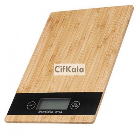 ترازو صفحه لمسی طرح چوب 5 کیلویی