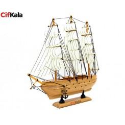 کشتی بادبانی چوبی دکوری بزرگ