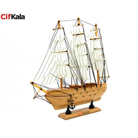 کشتی بادبانی چوبی دکوری